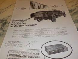 ANCIENNE  PUBLICITE LA MALLE AUTO   INNOVATION 1925 - Altri