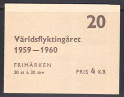 Sweden 1959 World Refugee Year Booklet, Mint No Hinge, Sc# ,SG ,Mi 457 - Carnets