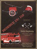 88643- SAINT SAPHORIN- RESERVE DU 118 RED WINE LABEL, FIRE TRUCKS - Red Wines
