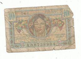 Billet ,TRESOR FRANCAIS , Territoires Occupés ,  Dix ,10 Francs , 2 Scans - Schatkamer