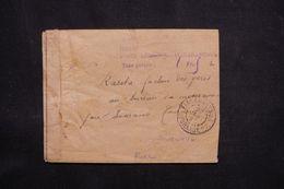 """MADAGASCAR - Oblitération """" Fianarantsoa Journaux PP """" + Taxe De La Poste Aérienne Sur Enveloppe En 1945 -  L 64561 - Brieven En Documenten"""