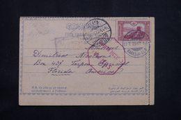TURQUIE - Carte De Correspondance De Karadja Bey En 1916 Pour Les Etats Unis Avec Contrôle Militaire -  L 64562 - 1858-1921 Impero Ottomano