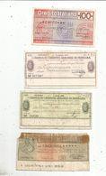 Chéque , ITALIE , 1976 , 2 Scans , LOT DE 4 CHEQUES - [10] Scheck Und Mini-Scheck