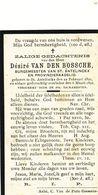 Doodsprentje  DESIRE VAN DEN BOSSCHE   1821  1892  BURGEMEESTER ST ANTELINKS Herzele  Maire Mayor - Religion & Esotericism