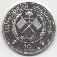 Émirats Arabes Unis  SHARJAH 10 Riyals 1970 Simon Bolivar  ARGENT//SILVER BU SUP//SPL - Emirats Arabes Unis