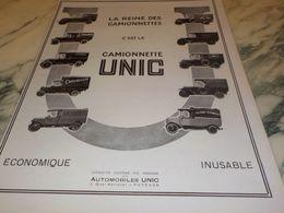 ANCIENNE PUBLICITE YAOURT CAUCASE LA REINE DES  CAMIONNETTE UNIC   1925 - Trucks