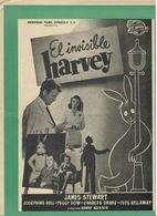 El Invisible Harvey (1950) Pressbook, 8 Pages. JAMES STEWART And JOSEPHINE HULL. En Espanol/Spanish. - Werbetrailer