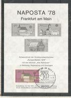 ALEMANIA NAPOSTA 78 FRANKFURT IMPRESION EN NEGRO SCHWARZDRUCK EUROPA CEPT MAT FRANKFURT - [7] Repubblica Federale