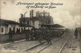 RPPC 17*12cm RUMANIA GEFANGENER RUMÄNEN  BAHNHOF BUZAU  Paul Hoffmann 1914/15 WWI WWICOLLECTION - Roumanie