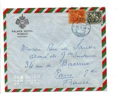 PORTUGAL AFFRANCHISSEMENT COMPOSE SUR LETTRE A EN TETE D'HOTEL POUR LA FRANCE 1964 - 1910 - ... Repubblica