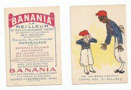CHROMO BANANIA  FORMAT 10 X 8 CM Chocolat - Poulain