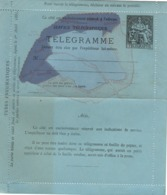 Entiers Postaux - Télégramme  Carte Paris -  50c Champlain  (ttb) - Postal Stamped Stationery