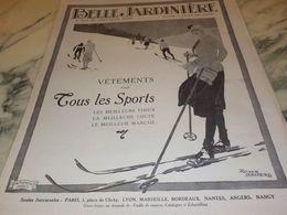 ANCIENNE PUBLICITE MAGASIN BELLE JARDINIERE 1925 - Vintage Clothes & Linen