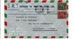 PORTUGAL AFFRANCHISSEMENT COMPOSE SUR LETTRE A EN TETE POUR LA FRANCE 1956 - Lettere