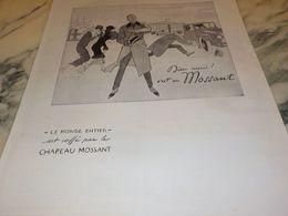 ANCIENNE  PUBLICITE DIEU MERCI C EST UN  CHAPEAU MOSSANT 1925 - Posters