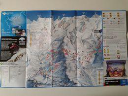 Alt1094 Monterosa Ski Champoluc Gressoney Champorcher Alagna Valsesia Valle Aosta Map Mappa Piste Sci Skirama - Sport Invernali