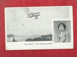 CPA - Fête D'Aviation - Mme Dutrieu Sur Monoplan -(avion , Aviateur ) - Piloten