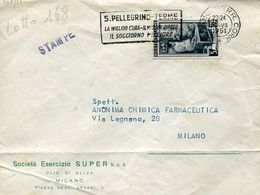55977 Italia, Special Postmark Slogan 1951 San Pellegrino Terme, Thermal City, Localitè Thermale - Hydrotherapy