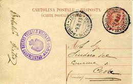 55978 Italia,postmark 1913 Acqui Terme,  Alessandria Circuled Card , Thermal City, Localitè Thermale - Bäderwesen