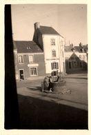 Ile De Groix * Place , Boucherie & épicerie Tissus * Commerces Magasins * Photo Ancienne * à Voir !!! - Groix