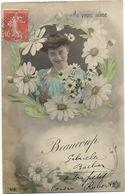 XW 3221 Ragazza Girl Femme Frau Chica Pin Up / Viaggiata 1908 - Pin-Ups