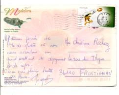 PORTUGAL VIGNETTE DE DISTRIBUTEUR SUR CARTE POUR LA FRANCE 2004 - 1910-... République