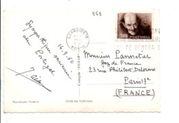 PORTUGAL SEUL SUR CARTE POUR LA FRANCE 1960 - 1910-... República