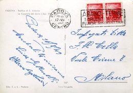 55981 Italia,postmark 1949 Abano Terme,  Fanghi Radioattivi, Circuled Card , Thermal City, Radioactive Sludge ! - Hydrotherapy