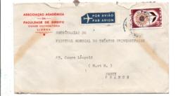 PORTUGAL SEUL SUR LETTRE POUR LA FRANCE 1964 - 1910-... República