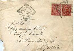 55982 Italia,postmark 1894 Bagni Di  Basciana Pisa, Circuled Cover , Thermal City, - Hydrotherapy