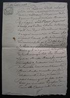 Tonneins 23 Fructidor An 13 Lot-et-Garonne Testament De Jacques Larrieu à Marthe Bonnefou Son épouse - Manuscrits