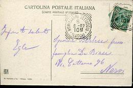 55983 Italia,postmark 1907 Montecatini Tettuccio Lucca, Circuled Card , Thermal City, Localitè Thermale - Bäderwesen
