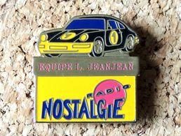Pin's PORSCHE 911 N°1 Equipe L. JEANJEAN - RADIO NOSTALGIE - Peint Cloisonné - Fabricant Inconnu - Porsche