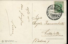 55984 Italia,postmark 1925 Montecatini Tettuccio Lucca, Circuled Card , Thermal City, Localitè Thermale - Bäderwesen