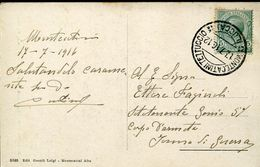 55985 Italia,postmark 1916 Montecatini Tettuccio Lucca, Circuled Card , Thermal City, Localitè Thermale - Hydrotherapy