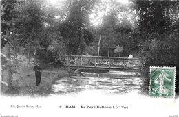 Ham. Partie De Pêche Au Pont Du Parc Delicourt. - Ham