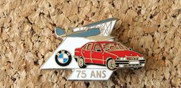 Pin's BMW 75 Ans De Moteurs D'avions & D'automobiles - émaillé - Fabricant DÉMONS & MERVEILLES - BMW
