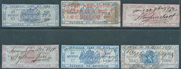 BELGIO BELGIUM BELGIE BELGIQUE,1862 Revenue Stamps Taxes,fiscal Used,Rare - Fiscali