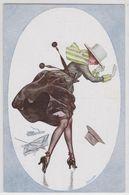 Hérouard Artiste Signé Illustrateur Une Giboulée Femme à Chapeau Mode Bas Erotisme - Autres Illustrateurs