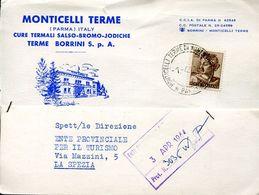55987 Italia,postmark 1964 Monticelli Terme Parma, Circuled Card , Thermal City, Localitè Thermale - Bäderwesen