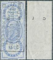 BELGIO BELGIUM BELGIE BELGIQUE, 1890 Revenue Stamps Taxes,fiscal( PERFIN  C L ) Used - Fiscali