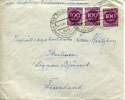 55988 Germany Reich, Circuled Cover 1923 From Bad Wildungen To Finland,nieren, Blasen, Thermal City - Bäderwesen