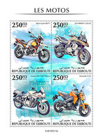 DJIBOUTI 2019 - Motorcycles: Guzzi, BMW, Suzuki, Kawasaki. Official Issue - Motorfietsen