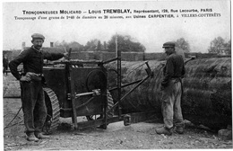 2 CPA Métiers Du Bois Bucherons Tronçonnage Ambroise Villers Cotterets état Superbe 1910 TOP+++ - Artisanat