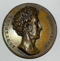 Médaille En Bronze. Alexandre Gendebien. 1834. Toujours Et Partout Champion De La Cause Du Peuple. F. Veyrat. 50mm - Professionnels / De Société