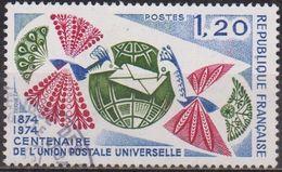 Union Postale Universelle  - FRANCE - Paon Stylisé, Lettres - N° 1817 - 1974 - France