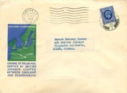 UK. 1er Vol British Airways London > Malmö  17/3/36 - 1902-1951 (Kings)