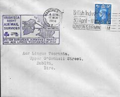 UK. 1er Vol BEA & Air Lingus  Manchester > Dublin  (Baile Atha Cliath)  12/3/51 - 1902-1951 (Kings)