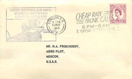 UK. 1er Vol British Air Mail  Londres  > Moscou   14/5/59 - 1952-.... (Elizabeth II)