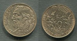 10 F GAMBETTA 1982 SUP - K. 10 Francs